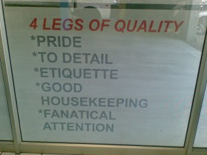 5 Legs of Quality