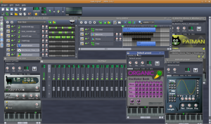 Screenshot of LMMS in action