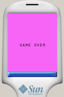Text from bitmap font shown on phone