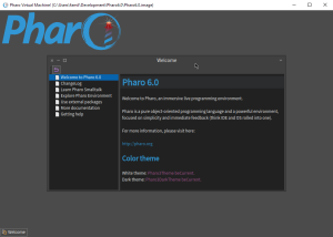 Pharo first screen